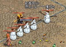 この雪だるまに何があったのか・・・
